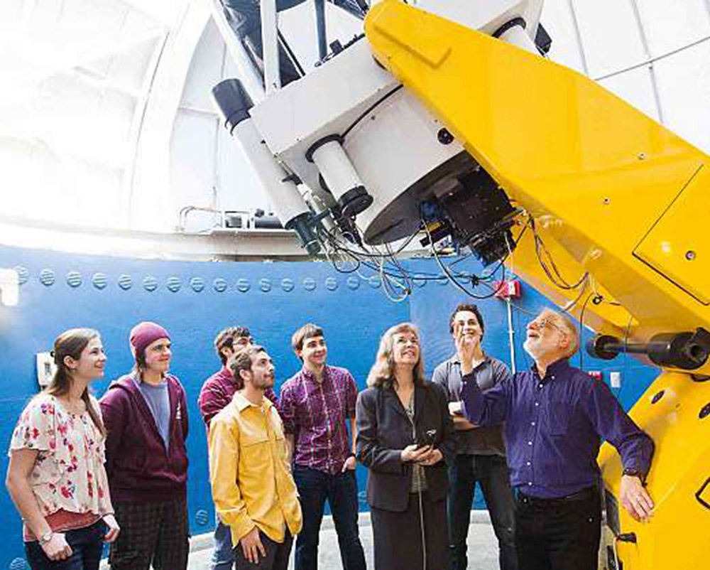 Astronomy students at Vassar College