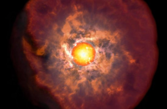 ARTISTIC IMPRESSION OF A RED SUPERGIANT STAR