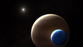 Artist's rendering of an exomoon