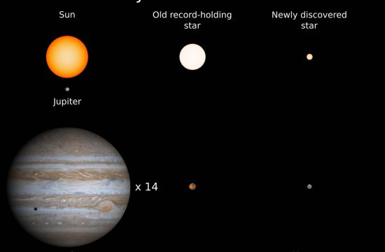The new discovery is only 14% the size of the Sun and is the new record holder for the star with the smallest complement of heavy elements