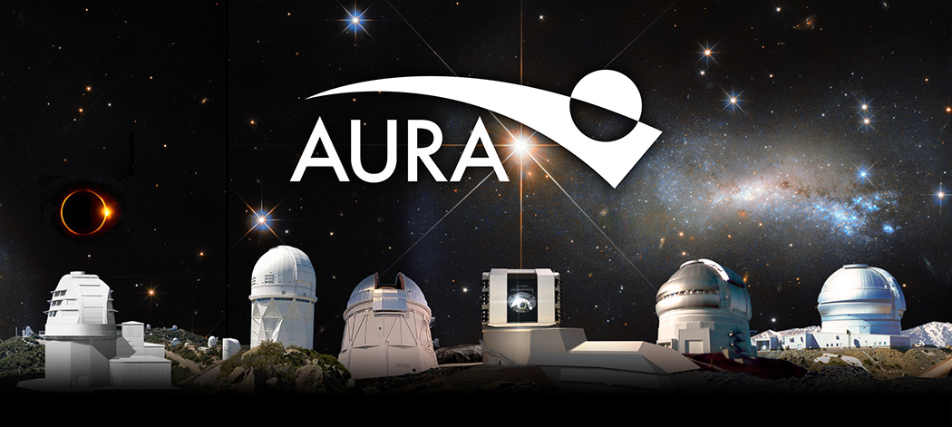 Montage of AURA ground telescopes