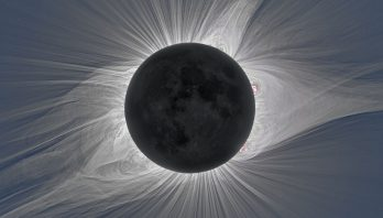 Solar corona during a total solar eclipse