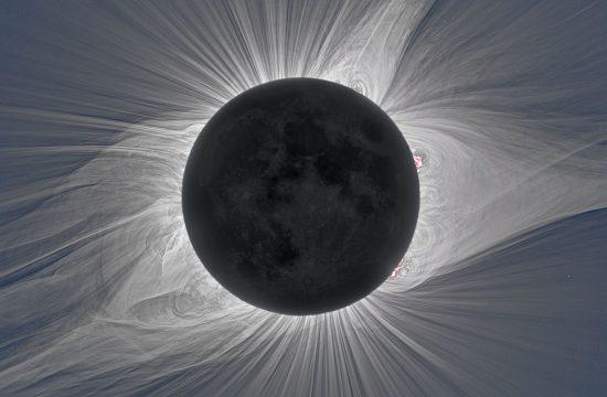 Solar corona during a total solar eclipse