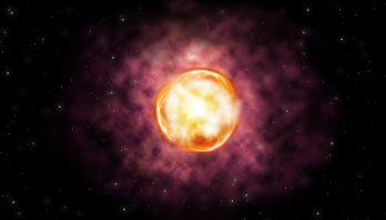 Artist's concept of the SN 2016iet pair-instability supernova. Credit: Gemini Observatory/NSF/AURA/ illustration by Joy Pollard