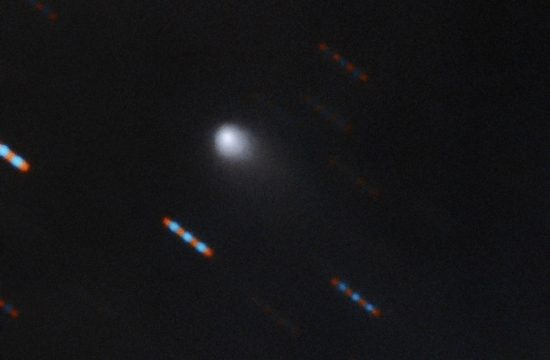 fuzzy image od interstellar comet