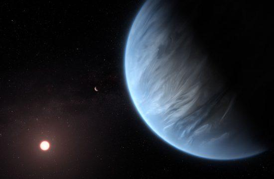 Artist impression of planet K2-18b