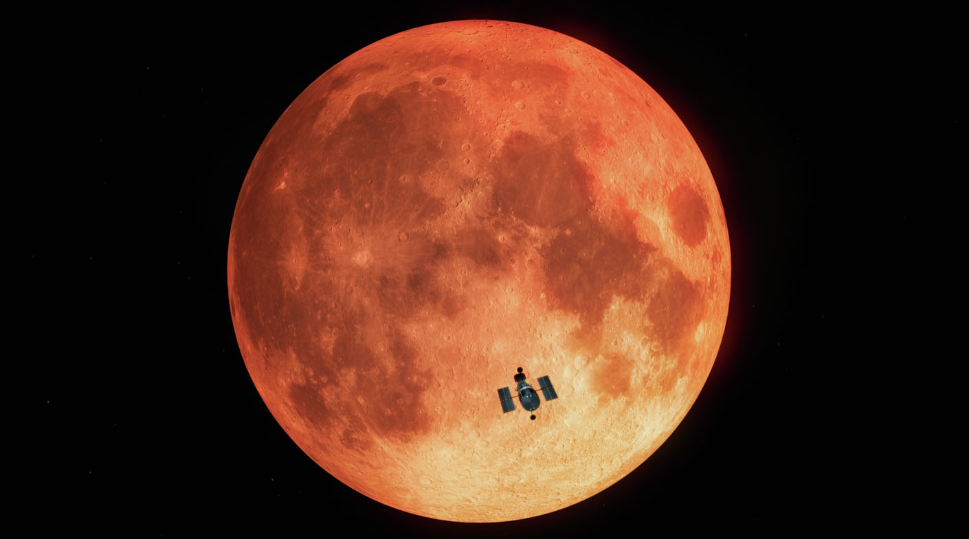 Hubble Observes the Total Lunar Eclipse (Artist's Illustration)
