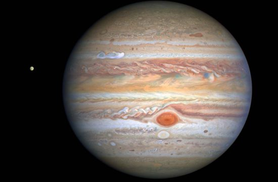 This latest image of Jupiter, taken by NASA's Hubble Space Telescope on August 25, 2020, was captured when the planet was 406 million miles from Earth.