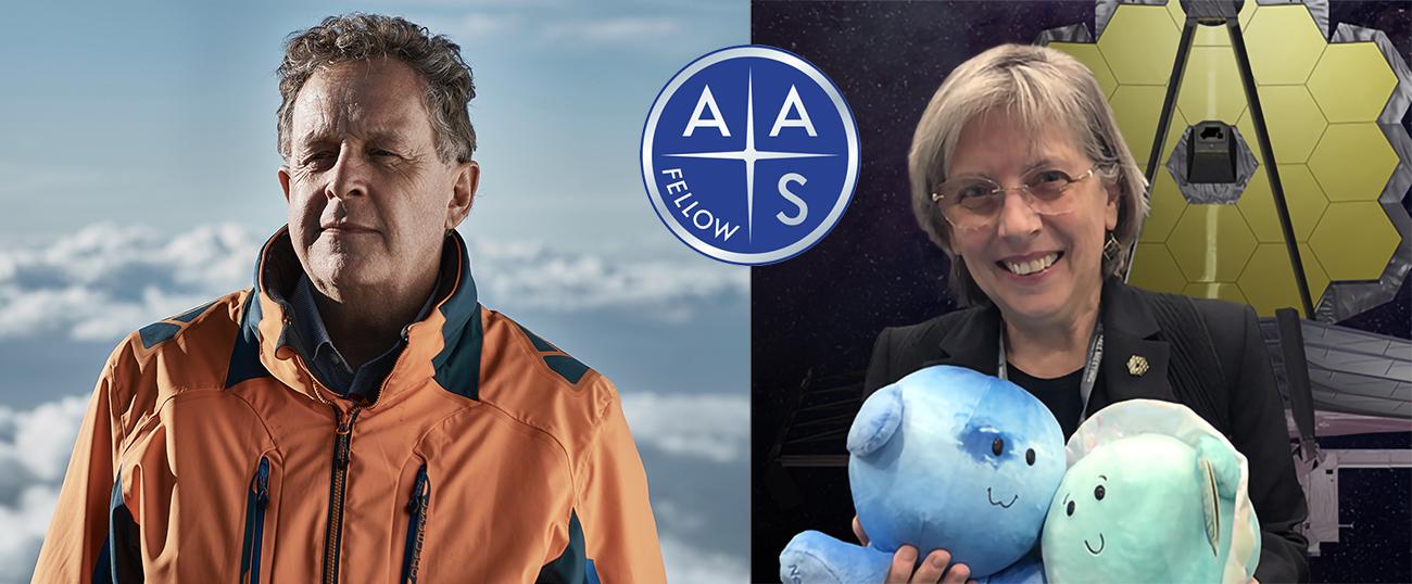 Matt Mountain (left) and Heidi Hammel (right), new AAS Fellows.