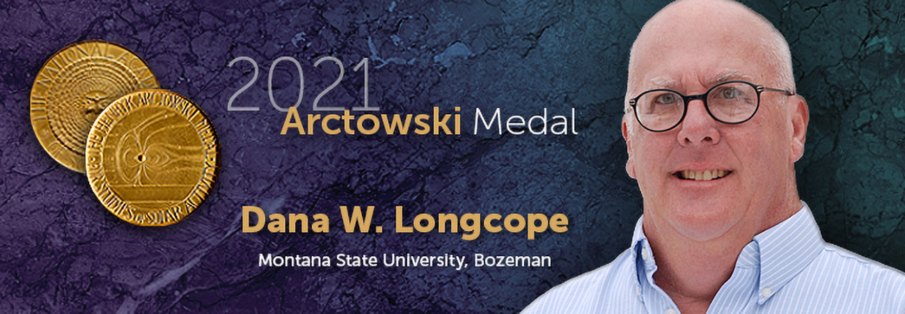 Image of Dana W. Longcope with image of coin-like Arctowski Medal