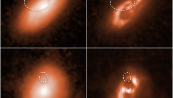Astronomers using NASA's Hubble Space Telescope have traced the locations of five brief, powerful radio blasts to the spiral arms of five distant galaxies.